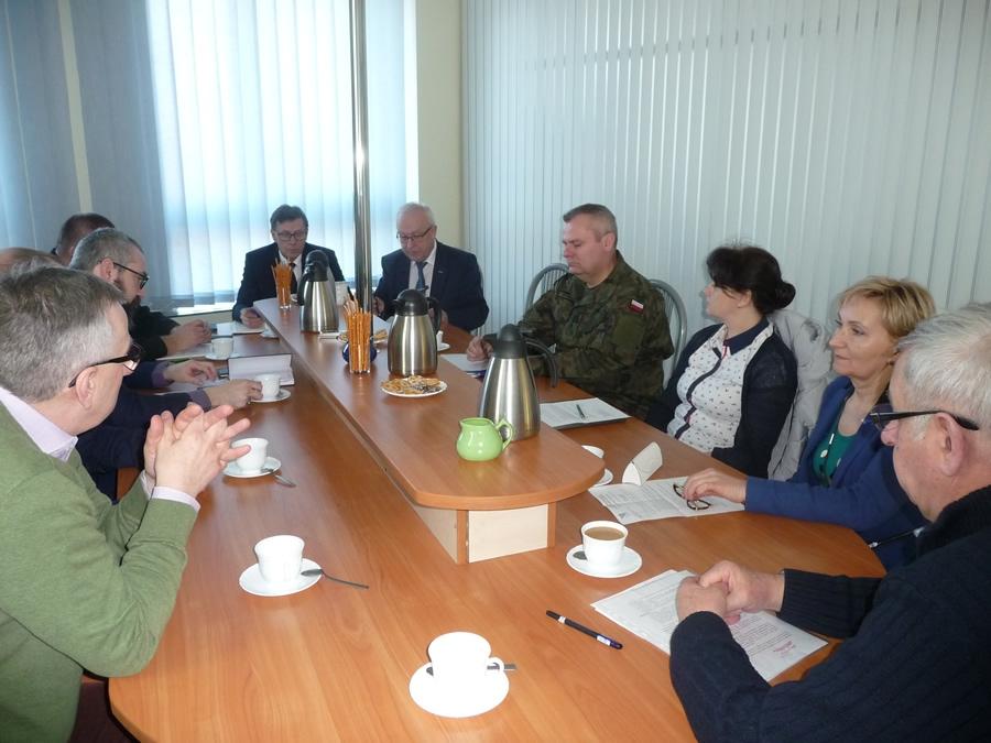 Posiedzenie Powiatowego Zespołu Zarządzania Kryzysowego  w dniu 22 lutego 2019