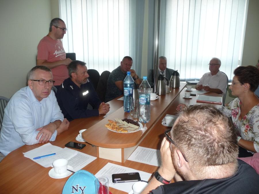 Posiedzenie Powiatowego Zespołu Zarządzania Kryzysowego w dniu 20.08.2019 r.