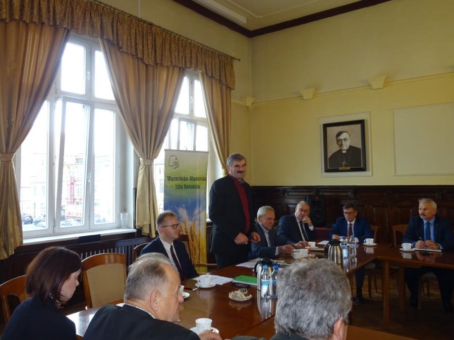 Wspólne posiedzenie Rady Powiatowej Warmińsko – Mazurskiej Izby Rolniczej oraz Komisji Rolnictwa, Ochrony Środowiska i Przyrody Rady Powiatu